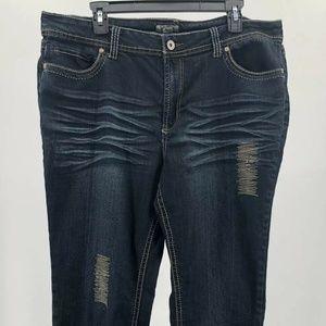 CATO Sz 18 Dark Wash Stretch Straight Leg Jeans